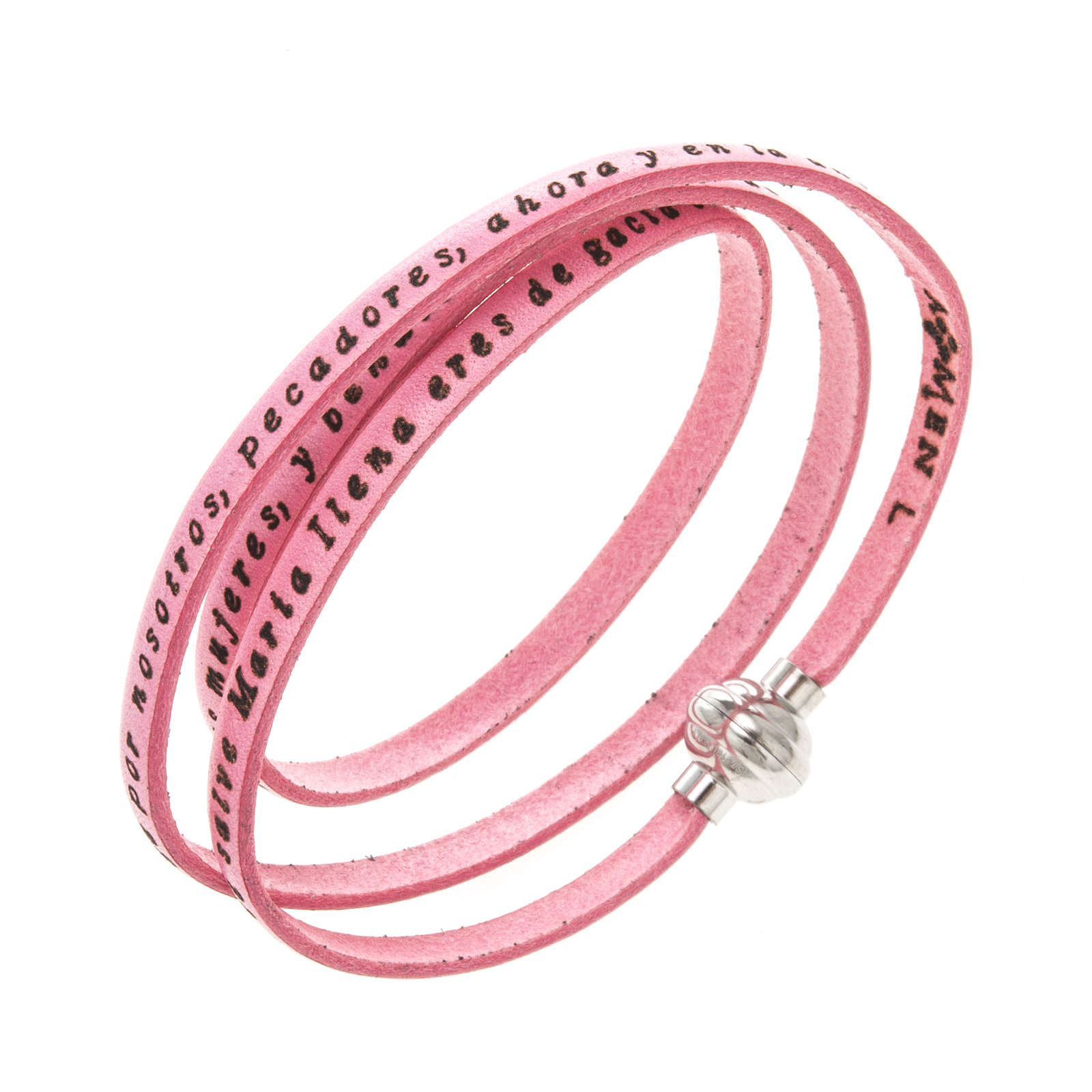 Bracelet Amen Je Vous Salue Marie rose ESP 4