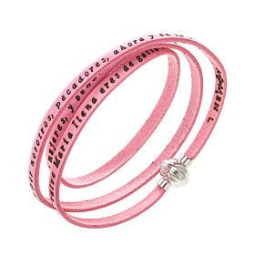 Bracelet Amen Je Vous Salue Marie rose ESP s1