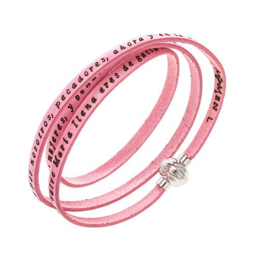 Bracciale Amen Ave Maria spagnolo rosa 1