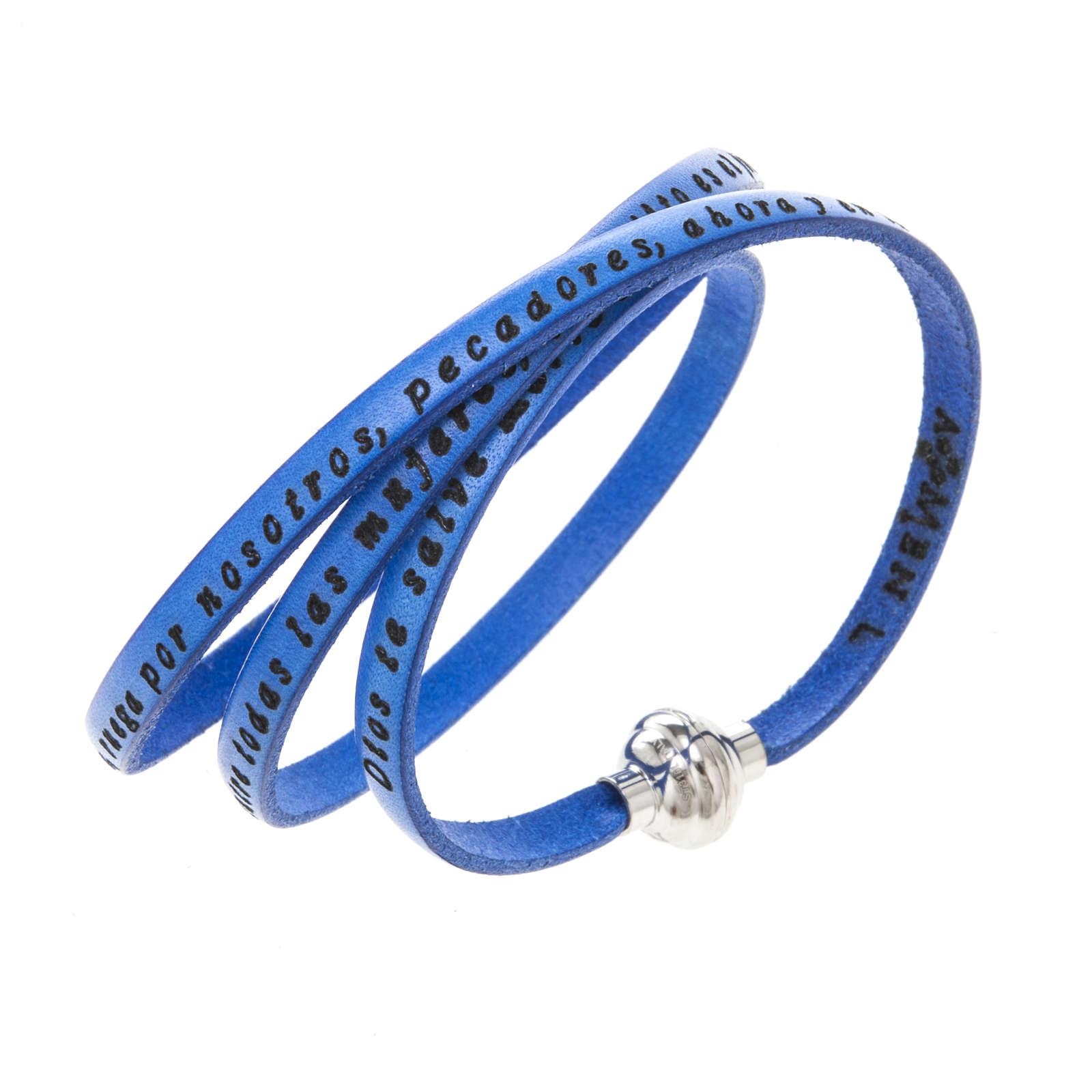 Bracelet Amen Je Vous Salue Marie bleu ESP 4