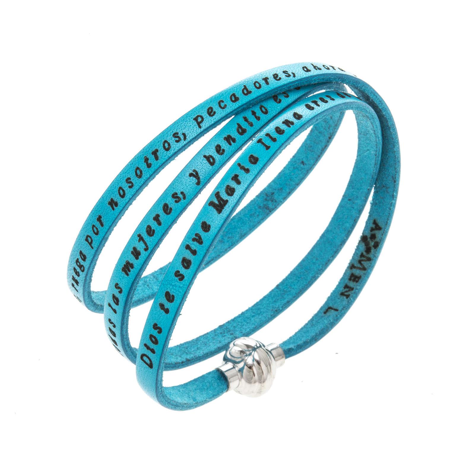 Bracelet Amen Je Vous Salue Marie turquoise ESP 4