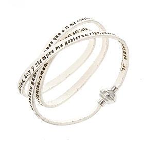 AMEN bracelets: Amen Bracelet in white leather Guardian Angel SPA