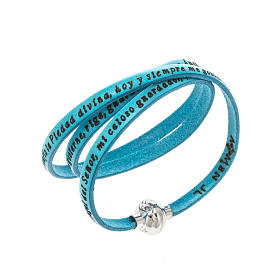 Amen Bracelet in turquoise leather Guardian Angel SPA s1