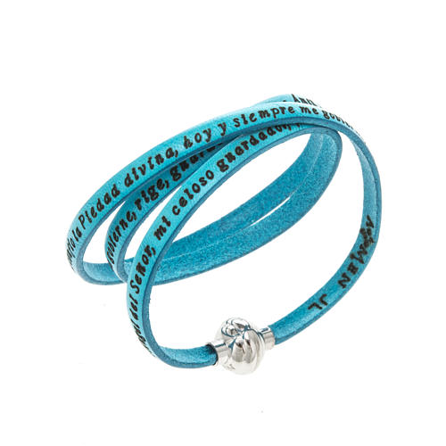 Amen Bracelet in turquoise leather Guardian Angel SPA 1