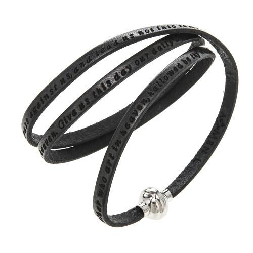 Bracelet Amen Notre Père noir ANG 1