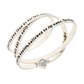 Bracelet Amen Notre Père blanc ANG s1