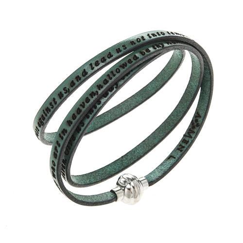 Bracelet Amen Notre Père vert ANG 1