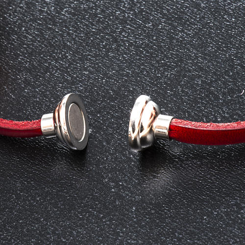 Amen Bracelet in red leather Our Father FRA 2