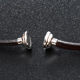 Amen Bracelet in brown leather Hail Mary FRA s2