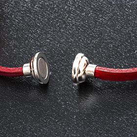Amen Bracelet in red leather Hail Mary FRA s2