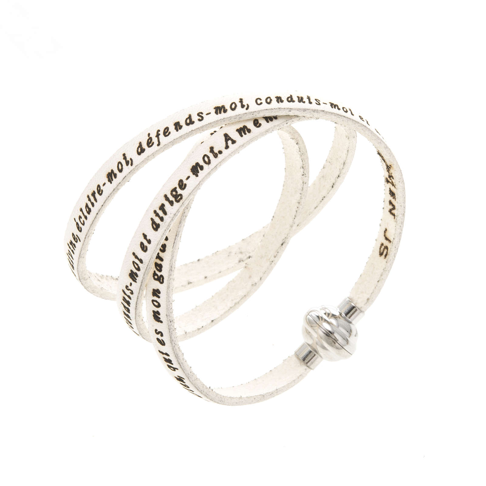 Bracelet Amen Ange de Dieu blanc FRA 4