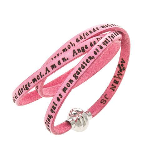 Bracelet Amen Ange de Dieu rose FRA 1