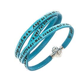 Amen Bracelet in turquoise leather Guardian Angel FRA s1