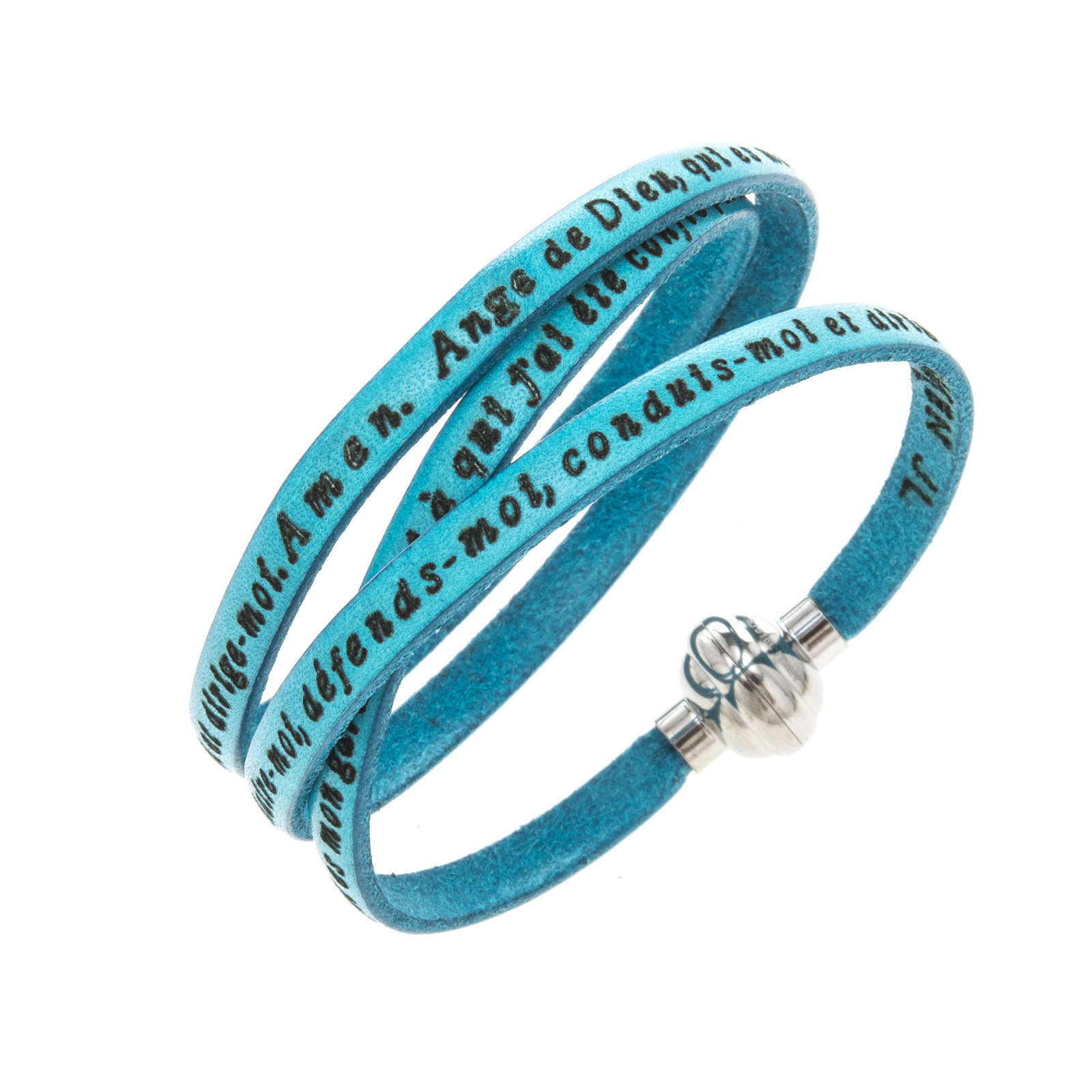 Amen Bracelet in turquoise leather Guardian Angel FRA 4