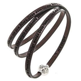 Bracelet Amen Notre Père marron ALL s1