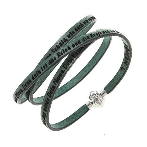 Bracelet Amen Notre Père vert ALL 1