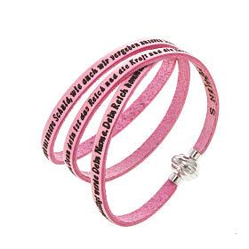 AMEN bracelets: Amen Bracelet in pink leather Our Father GER