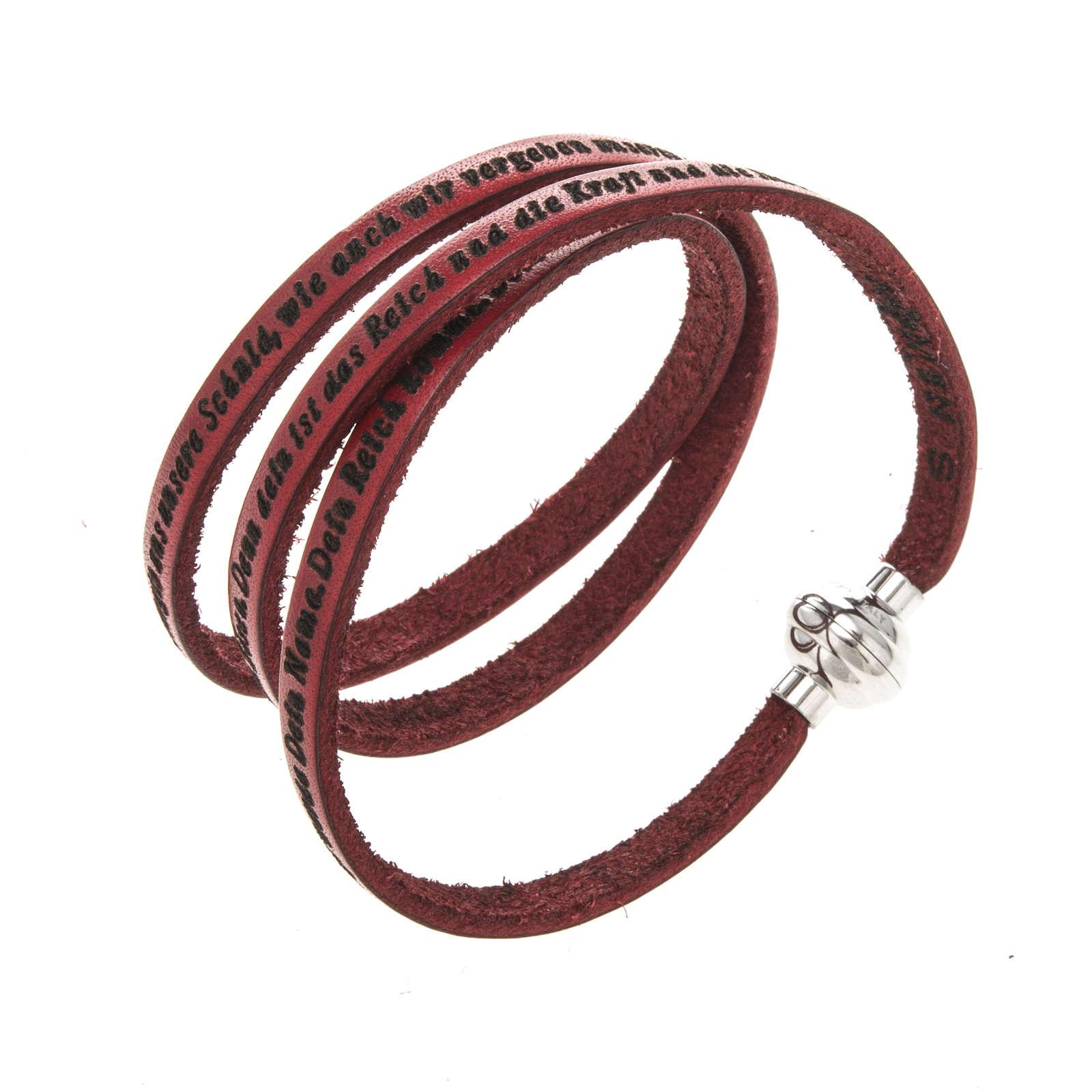 Bracelet Amen Notre Père rouge ALL 4