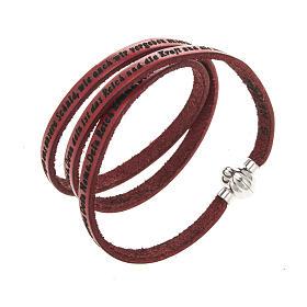 AMEN bracelets: Amen Bracelet in turquoise leather Our Father GER