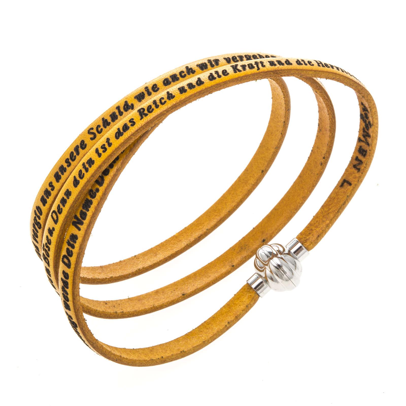Bracelet Amen Notre Père jaune ALL 4