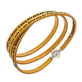 AMEN bracelets: Amen Bracelet in yellow leather Our Father GER