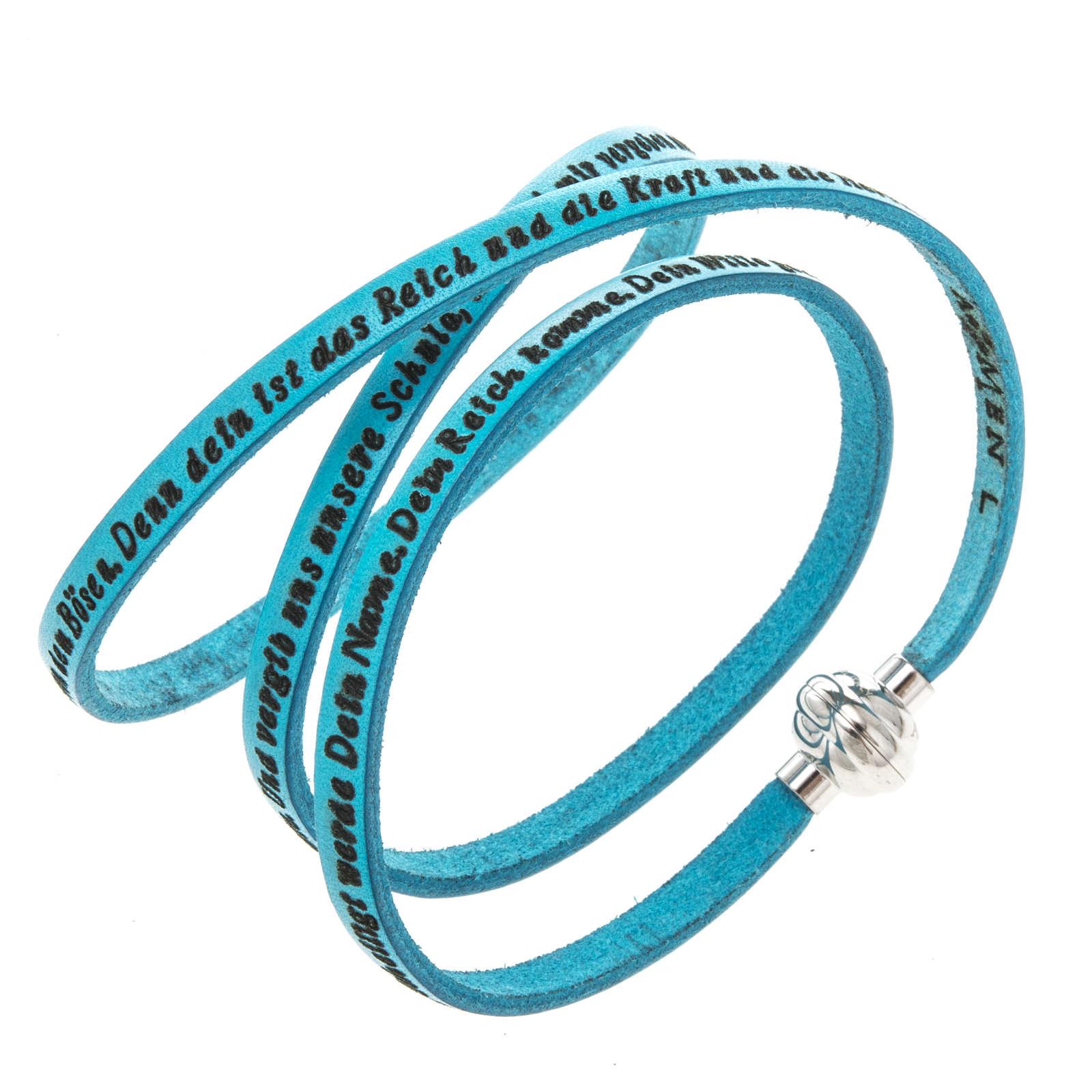 Bracelet Amen Notre Père turquoise ALL 4