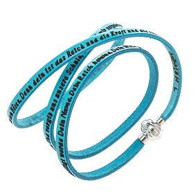 Bracelet Amen Notre Père turquoise ALL s1