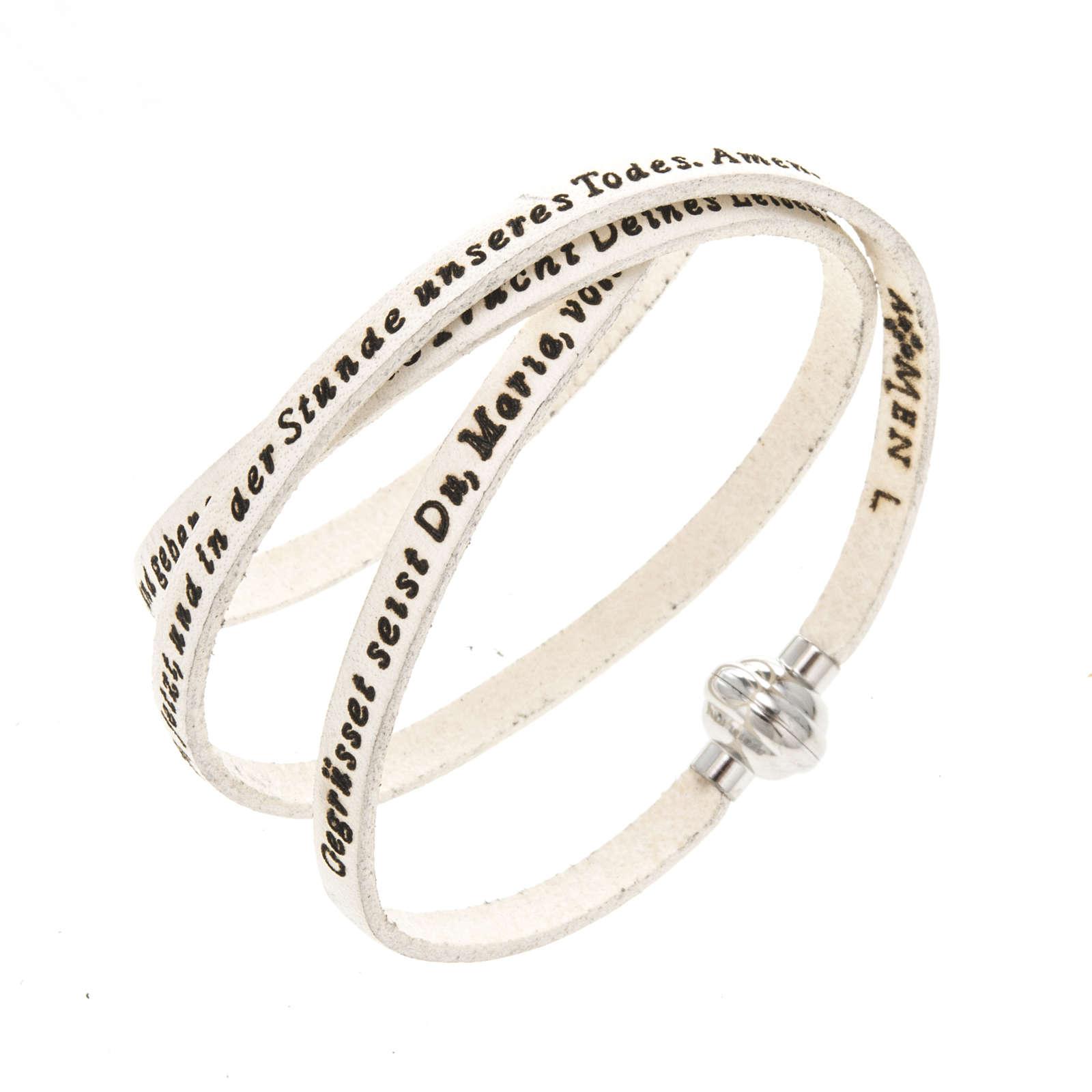 Bracelet Amen Je Vous Salue Marie blanc ALL 4