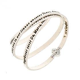 AMEN bracelets: Amen Bracelet in white leather Hail Mary GER