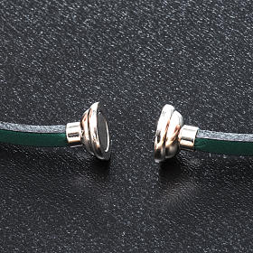 Amen Bracelet in green leather Hail Mary GER s2