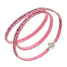 Amen Bracelet in pink leather Hail Mary GER s1
