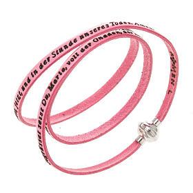 AMEN bracelets: Amen Bracelet in pink leather Hail Mary GER