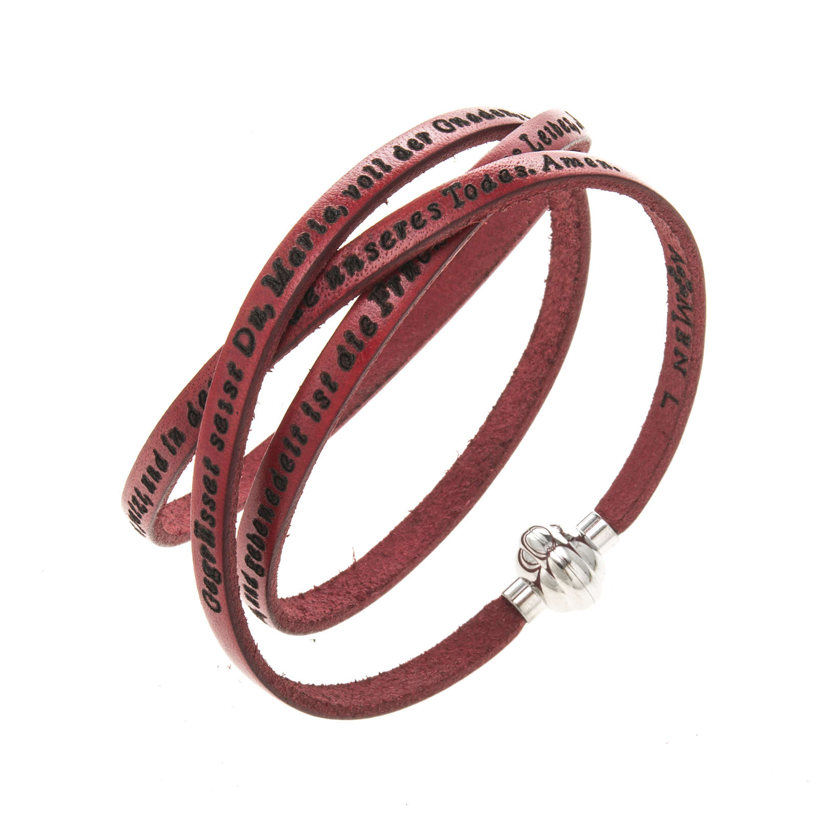 Armband AMEN Ave Maria Deutsch rot 4