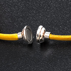 Amen Bracelet in yellow leather Hail Mary GER s2