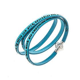 AMEN bracelets: Amen Bracelet in turquoise leather Guardian Angel GER