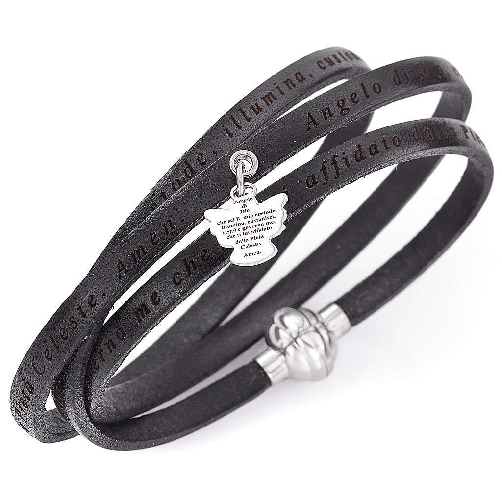 Amen bracelet, Agnus dei in Italian, black with charm 4
