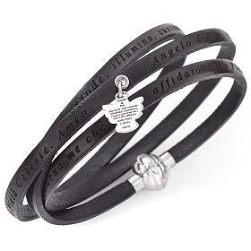 AMEN bracelets: Amen bracelet, Agnus dei in Italian, black with charm