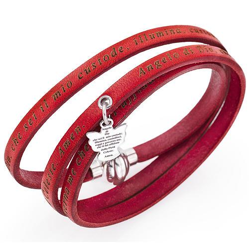 Bracciale AMEN Angelo di Dio ciondolo rosso ITA 1