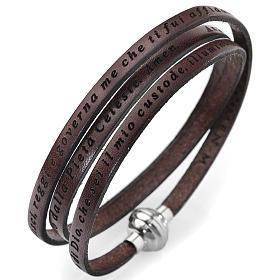 AMEN bracelets: Amen bracelet, Angel of God in Italian, brown