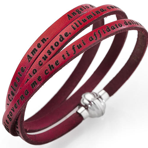 Bracelet Amen Ange de Dieu rouge ITA 1