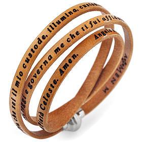 AMEN bracelets: Amen bracelet, Angel of God in Italian, tan