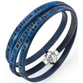 AMEN bracelets: Amen bracelet, Angel of God in Italian, denim blue