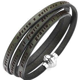 AMEN bracelets: Amen bracelet, Hail Mary in Italian, olive green