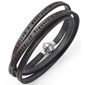 Bracelet Amen Je vous salue Marie taupe ITA s1