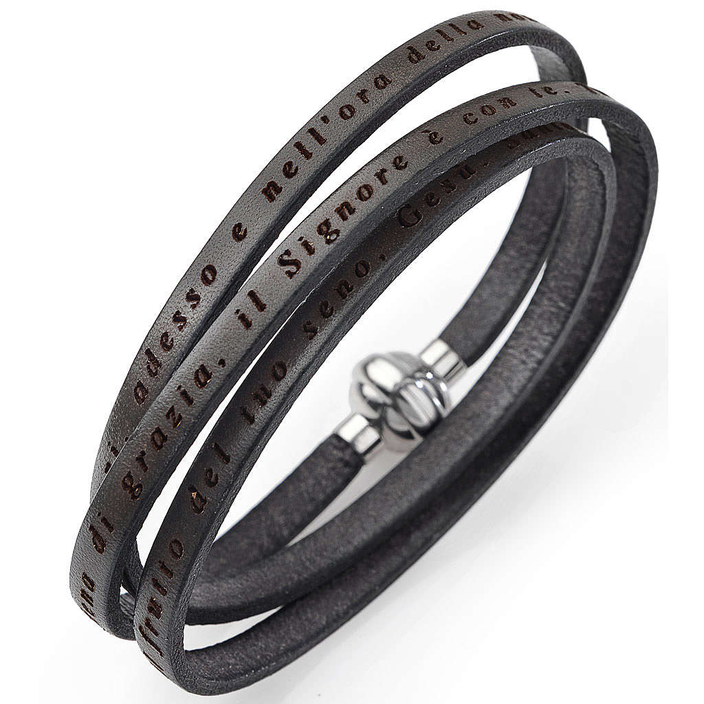 Amen bracelet, Hail Mary in Italian, mud colour 4