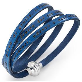 AMEN bracelets: Amen bracelet, Hail Mary in Italian, denim blue