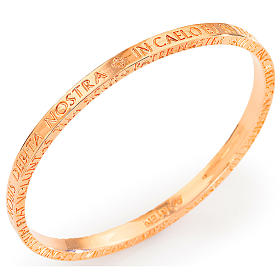 Amen bracelet in pink bronze with Our Father in latin s1