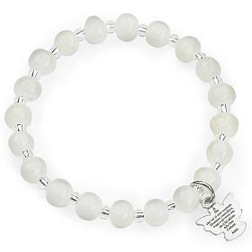 Bracciale AMEN per bambini perle Murano bianco arg 925 s1