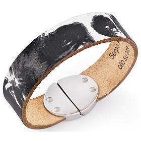 AMEN bracelets: Amen bracelet, Pope Francis in black leather