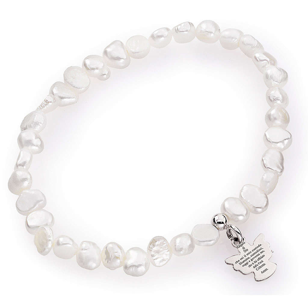 Bracciale AMEN perle di fiume irregolari argento 925 4